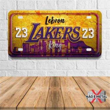 Imagem de Placa De Carro Decorativa Tema Nba -  Lakers Lebron James Pdc-037 - Pl