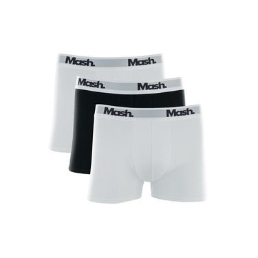 Kit Com 3 Cuecas Boxer Algodão Elastano Mash 110.16