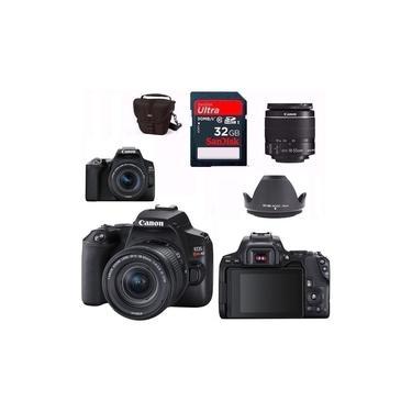 Câmera Canon Eos Rebel Sl3 Lente 18-55mm f4-5.6 Is Stm + Bolsa + Tripé + 32gb Revenda Autorizada Com Garantia Canon Oficial 1 Ano E Nf-e