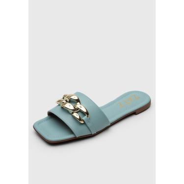 Rasteira Zatz Corrente Azul Zatz Z3692-20472 feminino