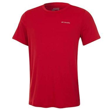 Camiseta Columbia Aurora Manga Curta Masculina - Vermelha G