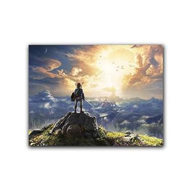 Placa Decorativa MDF Ambientes 20 cm x 30 cm - Zelda Link Ocarina of Time Breath of The Wild (BD02)