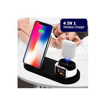 4 em 1 10 W Rápido Carregador Sem Fio Estação Dock Carregamento Rápido Para iPhone XR XS Max 8 para Apple Watch 2 3 4 Saída USB para iPad