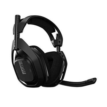Imagem de Headset Sem Fio ASTRO Gaming A50 + Base Station Gen 4 com Áudio Dolby para PS4, PC, Mac - Preto/Prata