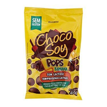 Imagem de Choco Soy Pops Banana Olvebra Sem Lactose 40g