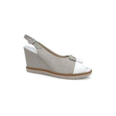 Sandalia Anabela Conforto 428010 - Piccadilly (84) - Creme/branco/marfim