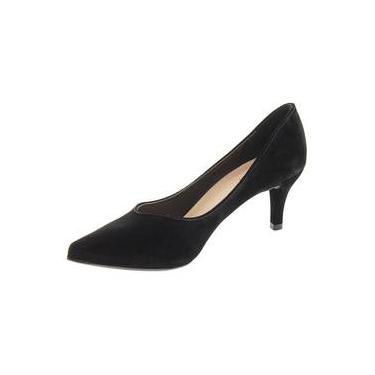 98175fda7f Sapato Feminino Scarpin Salto Baixo Mixage 3548940