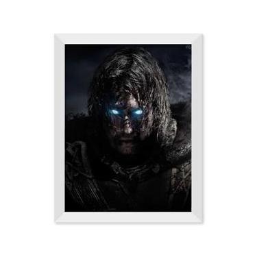 Poster de Middle Earth Shadow Of Mordor Com Moldura - Branco