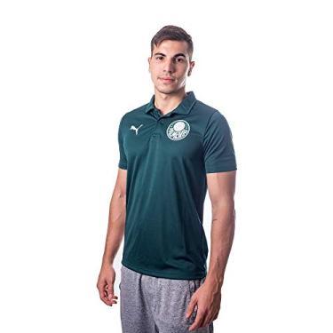 Camisa Polo Palmeiras Casual Goal Masculina - Verde