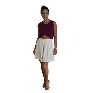 Shorts Daria Tamanho:40;Cor:Off white Branco