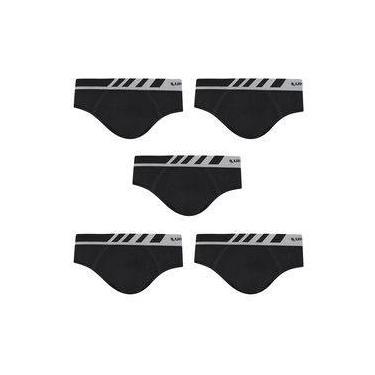 Kit Com 5 Cuecas Lupo Slip Microfibra 691-002