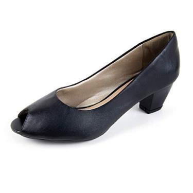 Sapato Scarpin Salto Grosso Linha Social Elegance Miuzzi - 3502 - Preto
