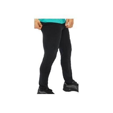 Imagem de Calça Legging Masculina Lisa Ciclismo Proteção UV Treino Preto