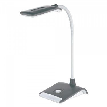 Luminária de Mesa Articulável TLM Flex Led 12,5cmx16,5cmx38cm Taschibra Cinza
