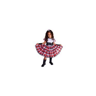 Imagem de Vestido de festa junina caipira infantil com luva E laço de cabelo