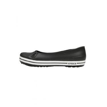 Sandália Crocs Crocband Flat  Preto.  feminino