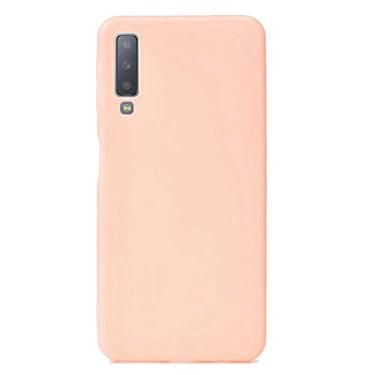 Capa Grandcase Galaxy A7 (2018), capa protetora ultrafina de silicone macio TPU fosco absorção de choque anti-queda para Samsung Galaxy A7 (2018) 6 polegadas – Rosa claro