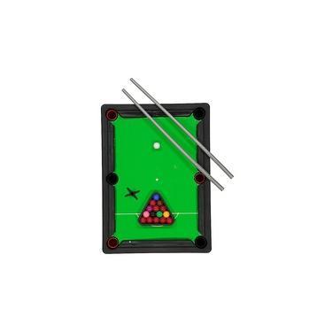 Mini game Mesa De Sinuca Bilhar Completa Com 2 Tacos Art Brink
