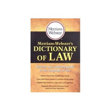 Merriam-Webster's Dictionary of Law - Merriam-webster - 9780877797357