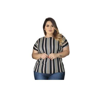 Blusa Feminina Plus Size Social Festa