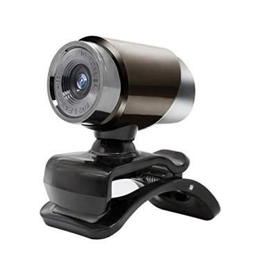 480P Webcam com microfone, USB HD Desktop Web Camera Video Cam para streaming de conferência de jogos