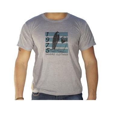 Camiseta Masculina Sandro Clothing Havai Cinza XG