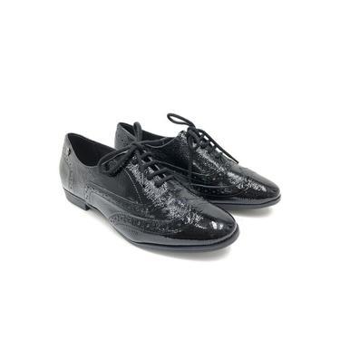 Sapato Oxford Bottero Couro Verniz Preto Feminino