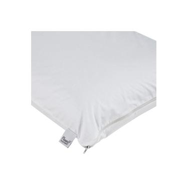 Imagem de Capa De Travesseiro Impermeável Percal 233 Fios 50x90cm Branco Plumasul
