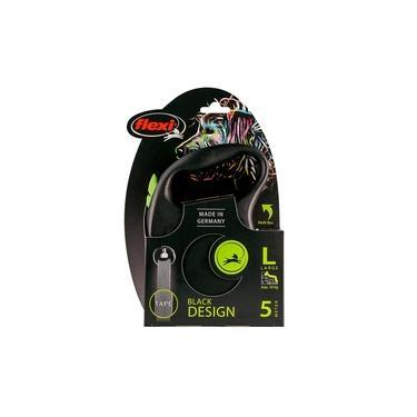 Guia Flexi Black Design Fita Grande 5m - Verde p/ cães