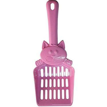 Pá Higiênica Mr Pet Rosa com Figura para Gatos