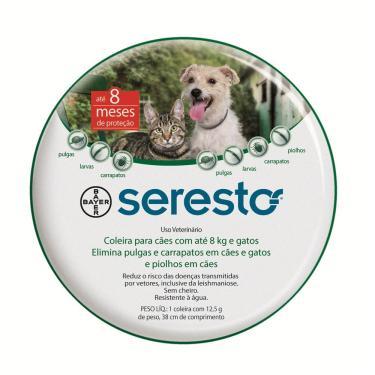 Imagem de Coleira Antipulgas Bayer Seresto Para Cães Até 8Kg