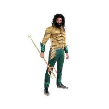 Imagem de Fantasia Aquaman Clássico Adulto - DC Aquaman