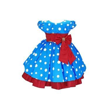 Vestido Infantil Festa Galinha Pintadinha Vermelho