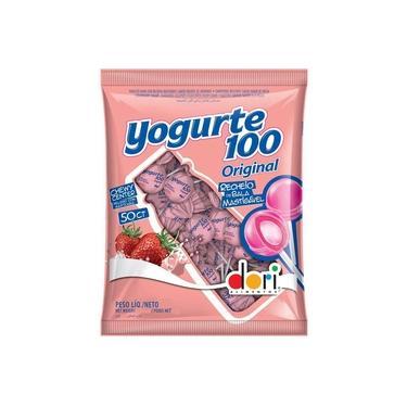 Pirulito Recheio Mastigável Yogurte 100 Com 50Un - Dori