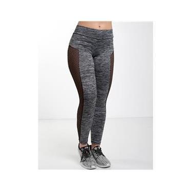 Imagem de Calça Legging Suplex Malhar Mescla Feminina Fitness