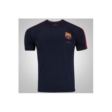 Camiseta Barcelona Fardamento Class - Masculina - Azul Esc Vinho Barcelona 3ff8900cceba1