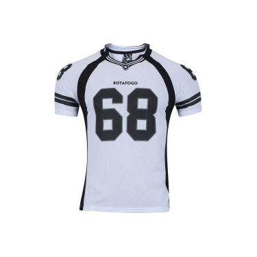 4224e9b9c2 Camiseta do Botafogo Bion Raglan - Masculina - BRANCO PRETO Braziline