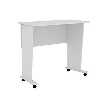 Mesa para Notebook ME4117 Dobrável com Rodízios Branco - Tecno Mobili