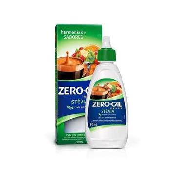 Adoçante Zero Cal Stevia Líquido 80Ml