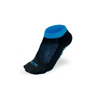 Meia Para Pilates Antiderrapante Tamanho 34 ao 38 - Acte Preto e Azul