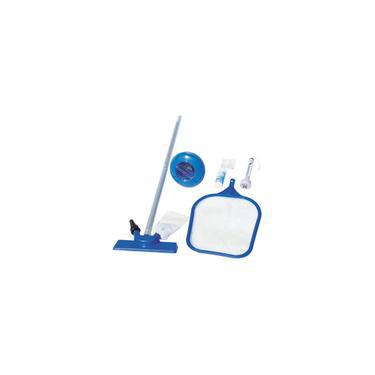 Imagem de Kit De Limpeza Piscina Aspirador Peneira Flutuador Fita Teste Ph Cabo Blister Bestway Intex #58195
