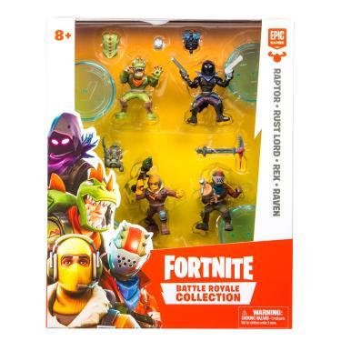 Fortnite 4 Mini Bonecos e Acessórios - Fun Divirta-se