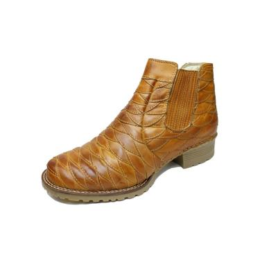 Bota ClaCle Country Escamada Bege  masculino
