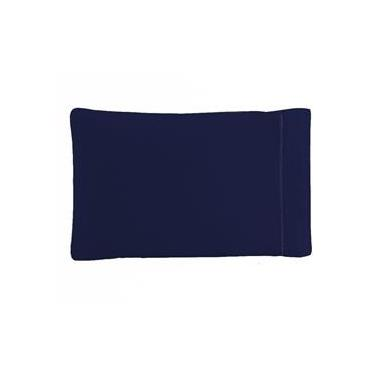 Imagem de Fronha Avulsa 50 x 70 cm Percal Misto 180 Fios Ponto Palito - Azul Marinho