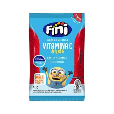 Bala de Gelatina Fini Bem-Estar Vitamina C Kids Morango com 18g 18g