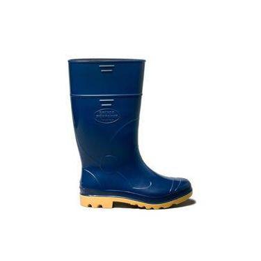 Bota Cano Longo Azul/amarelo Industrial N°36/37 C.a.31.224