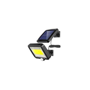 Lâmpada de parede LED com energia solar para exterior à prova d'água pir sensor de movimento