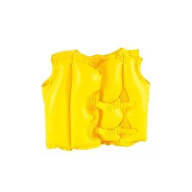Imagem de Colete Inflável Infantil Amarelo Para Localização Rápida