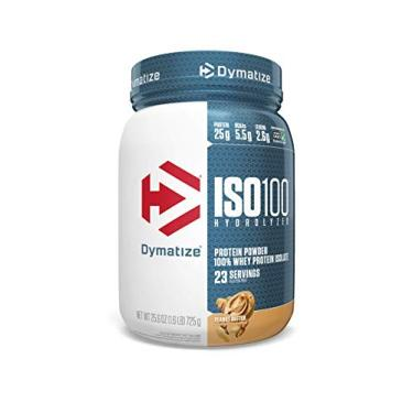 Iso 100 Whey Protein Isolado, Peanut Butter, Dymatize, 725 g