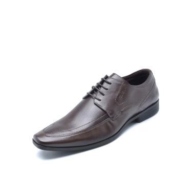 Sapato Social Couro Ferracini Liso  Marrom Ferracini 4060-281H masculino